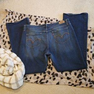 518 Superlow Boot Cut Jeans Size 17M